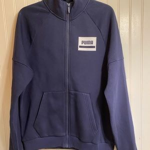 Puma rebel navy blue track jacket small